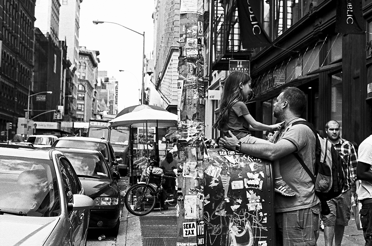 Daughter and father. Soho, New York.